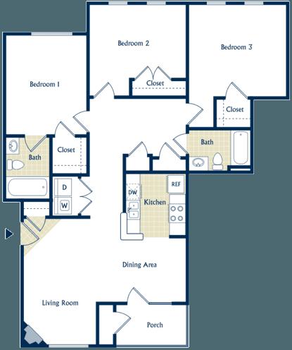3 Bedroom Pet-Friendly Apartment in Staunton, Va - Vista Big Sky Apartment