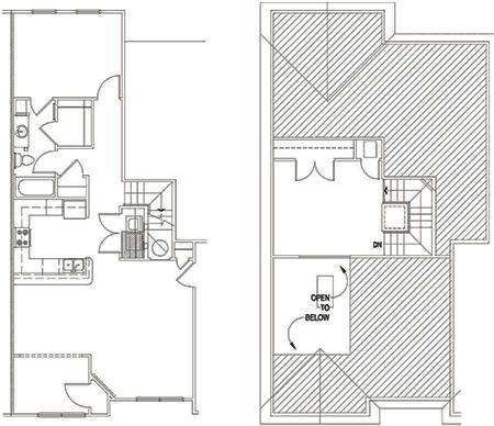 Staunton One Bedroom Apartment with Loft - Addison Big Sky Apartments