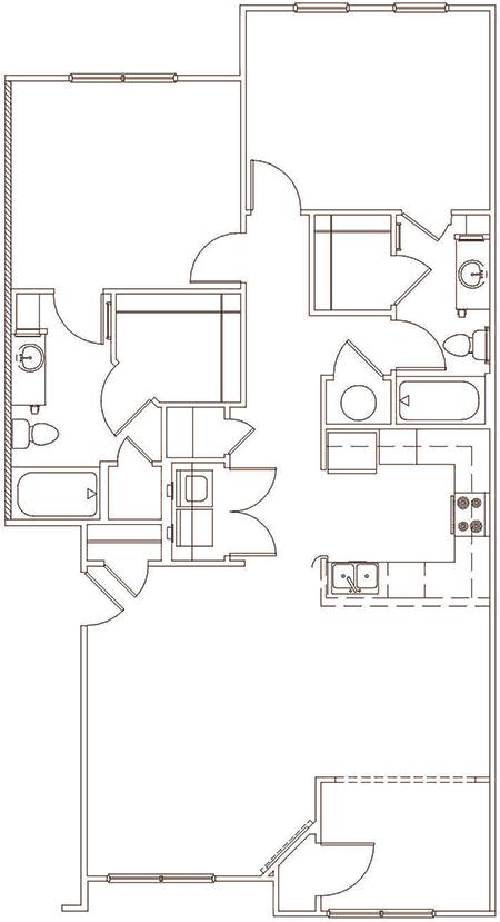 Two Bedroom Apartment in Staunton Va - Blakely Big Sky Apartment